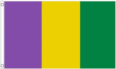 Mardi Gras Colours 5' x 3' (150cm x 90cm) Flag